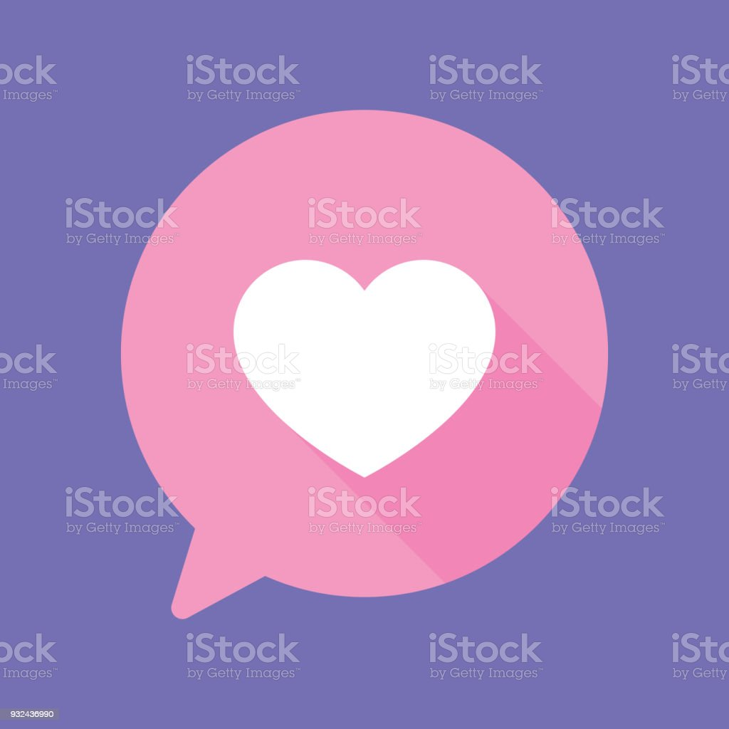 Speech Bubble Heart Flat royalty-free speech bubble heart flat stock vector art & more images of admiration