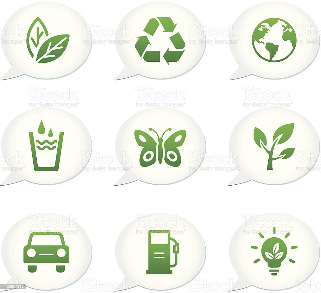 Speech Bubble Icon   Environmental Set royalty-free stock vector art