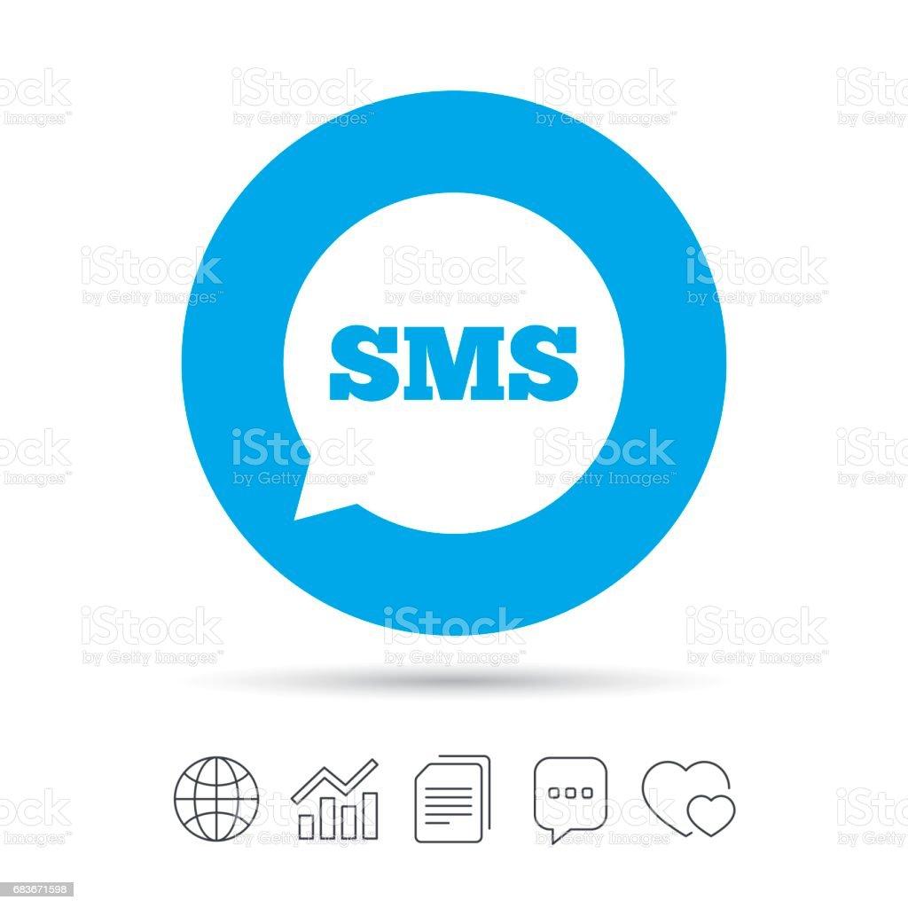 Sms Speech Bubble Icon Information Symbol Stock Vector Art More