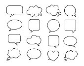 Speech bubble icon on white background.