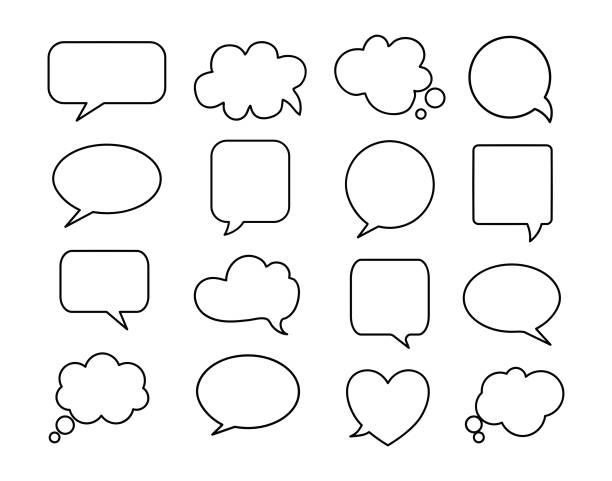 illustrations, cliparts, dessins animés et icônes de icône de bulle de discours sur le fond blanc. - bulle