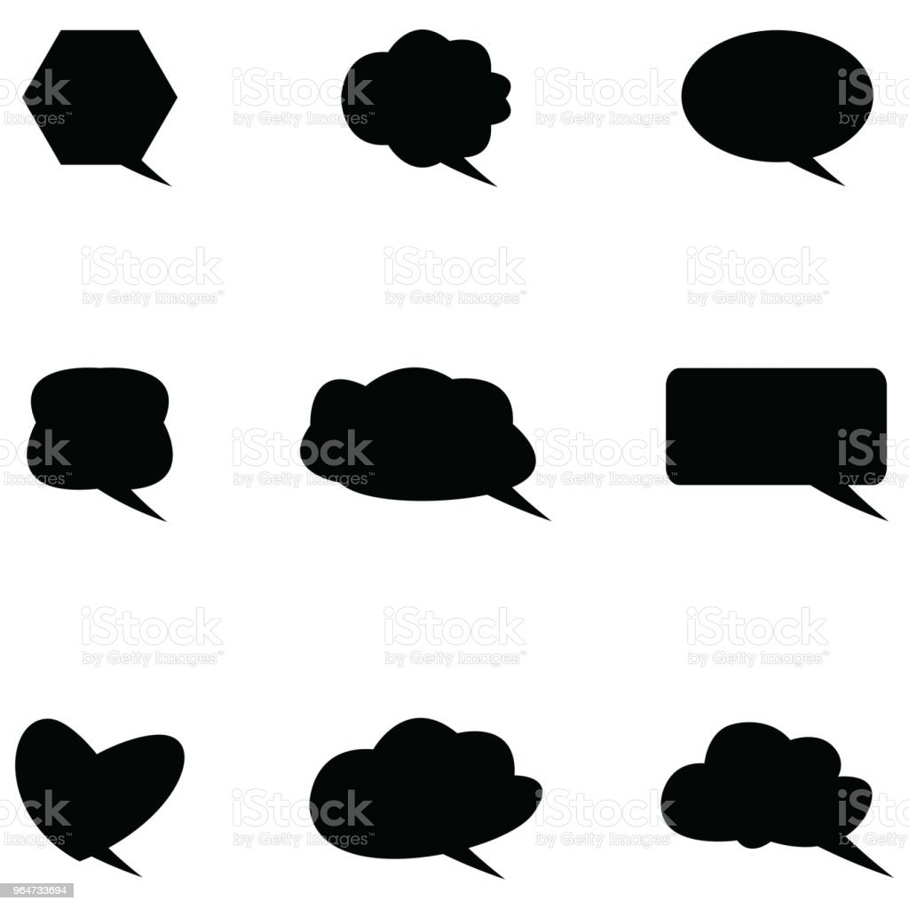 speech bubble icon set royalty-free speech bubble icon set stock vector art & more images of abstract