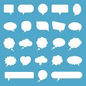Speech Bubble Icon Set - vector illustration