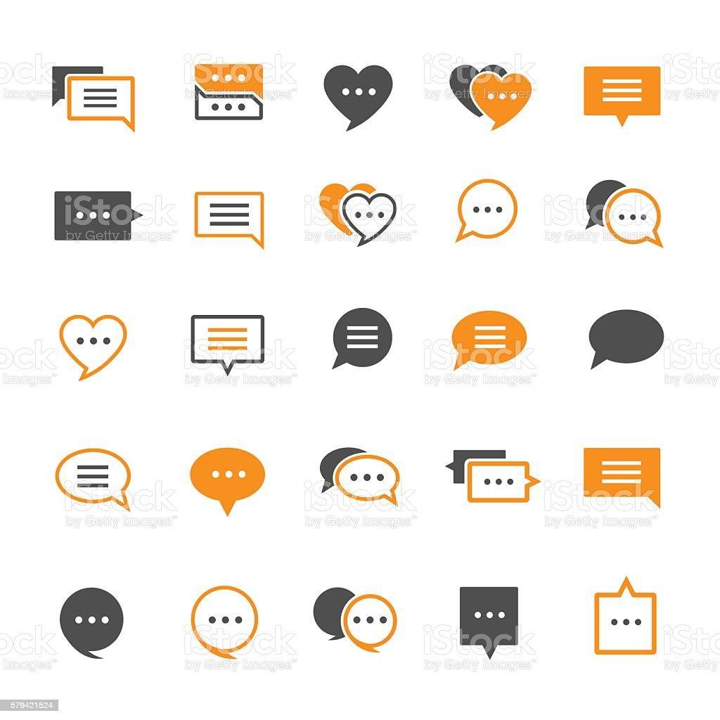 Speech bubble icon vector art illustration