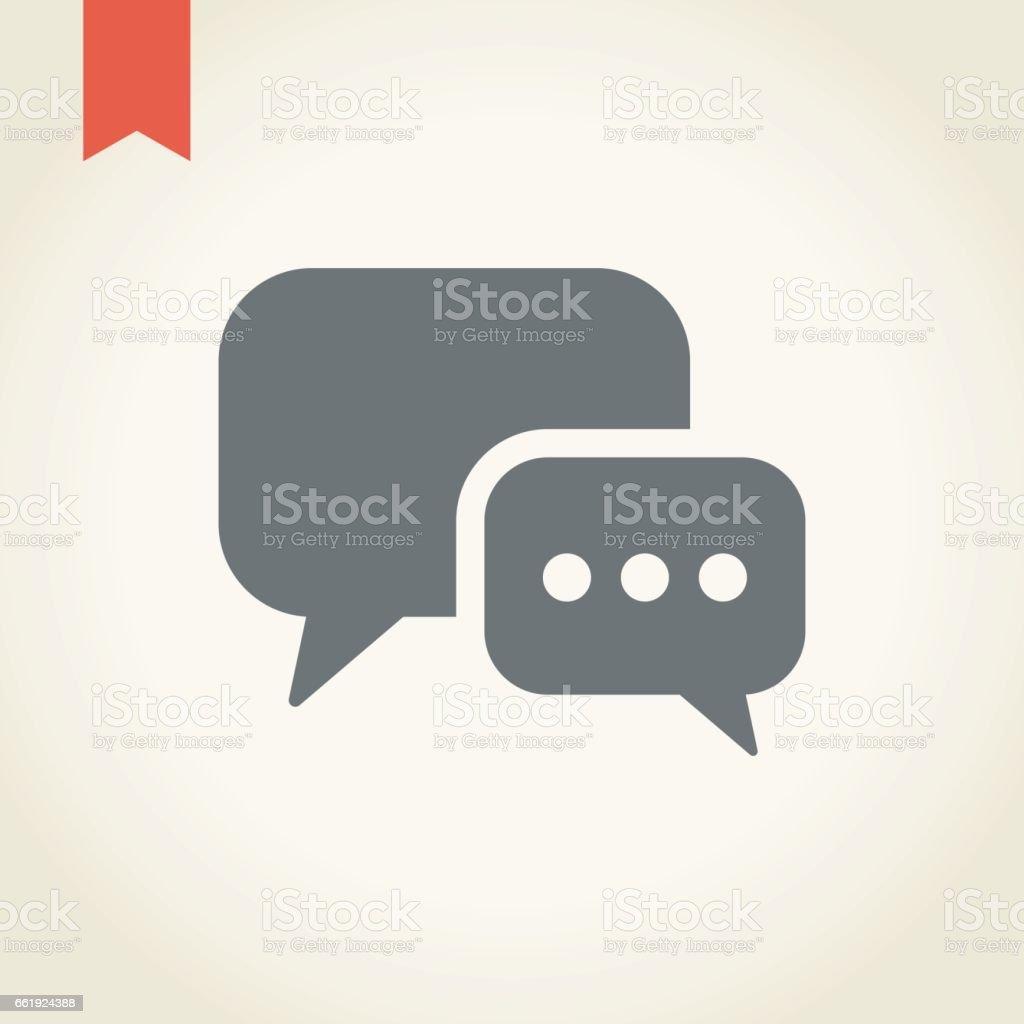 Discurso de bolha ícone - ilustração de arte em vetor