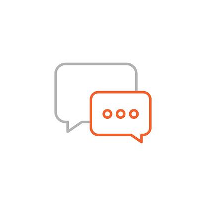 Speech Bubble Icon with Editable Stroke