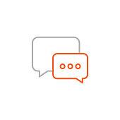 istock Speech Bubble Icon with Editable Stroke 1278448011