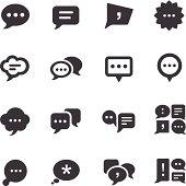 speech bubble Icons - Acme Series