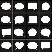 Speech bubble icons - Illustration
