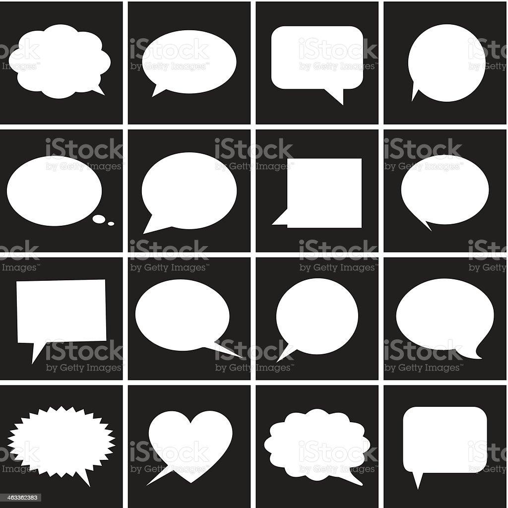 Speech bubble icons - Illustration vector art illustration