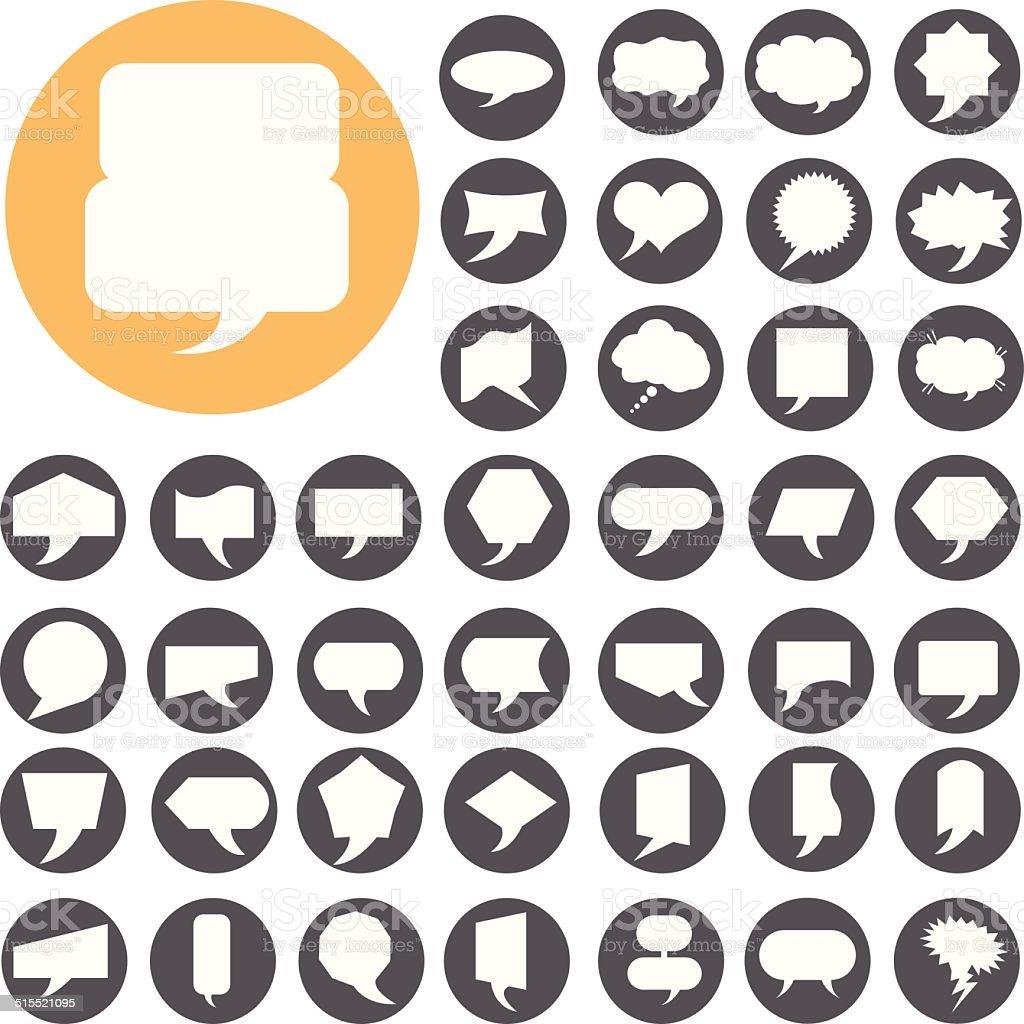 Rede Blase icons set.  Illustration eps10 – Vektorgrafik