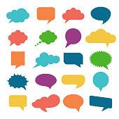 Vector illustration speech bubble icons set