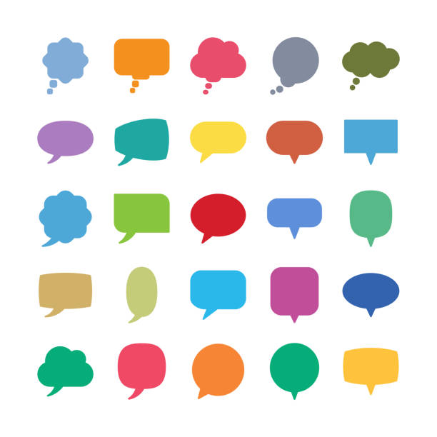 stockillustraties, clipart, cartoons en iconen met spraakballon iconen - talking