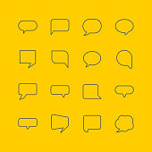 Speech bubble icons, vector illustration.