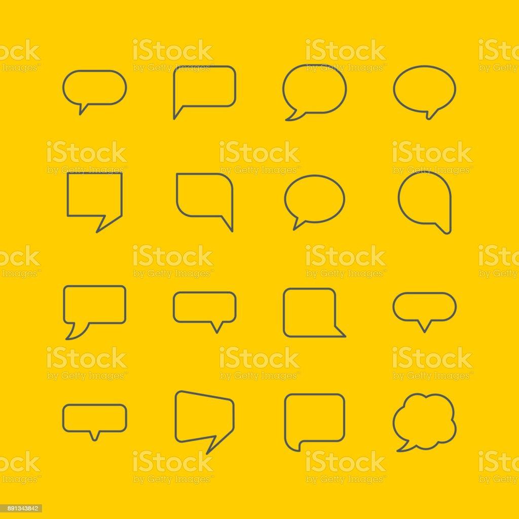 Discurso de bolha ícones - ilustração de arte em vetor
