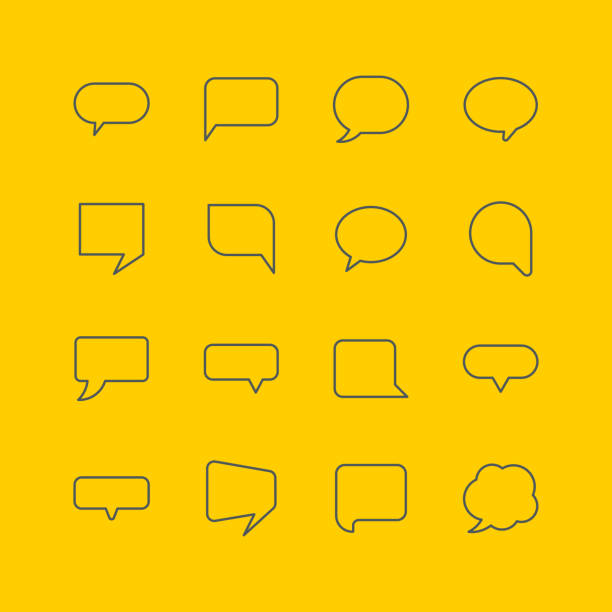 Speech bubble icons Speech bubble icons, vector illustration. hot air balloon stock illustrations