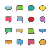 Speech bubble icons, vector illustration. EPS 10.