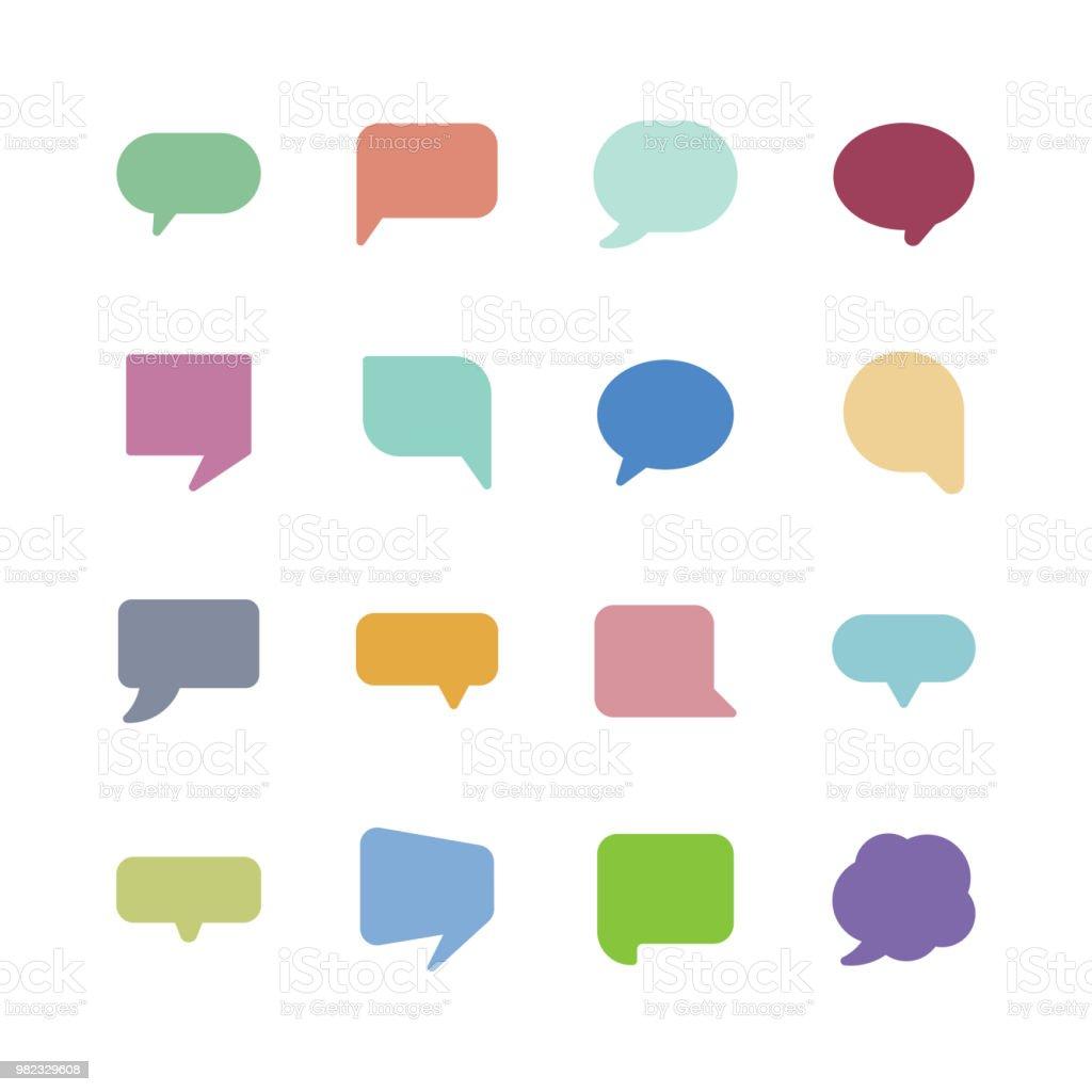 Speech bubble icons - Grafika wektorowa royalty-free (Balon)