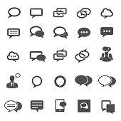 Speech bubble icons. Vector illustration
