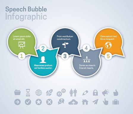 Speech Bubble Infographic
