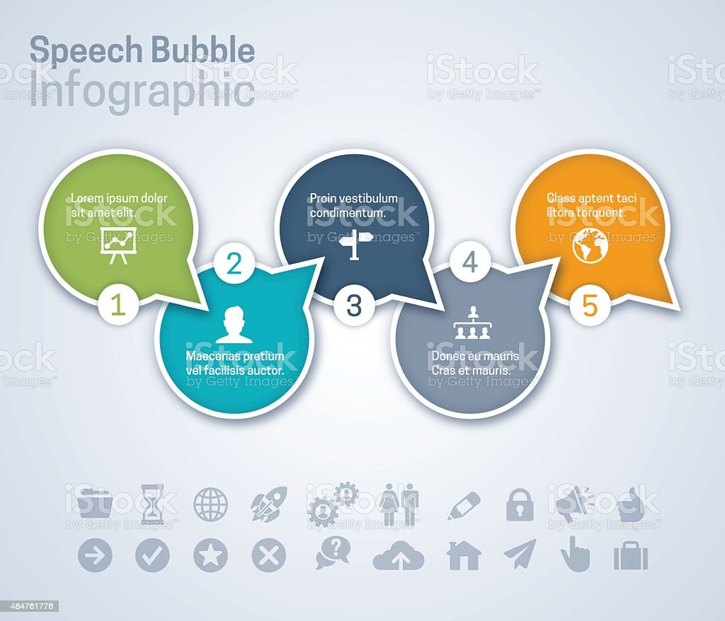 Speech Bubble Infographic vector art illustration