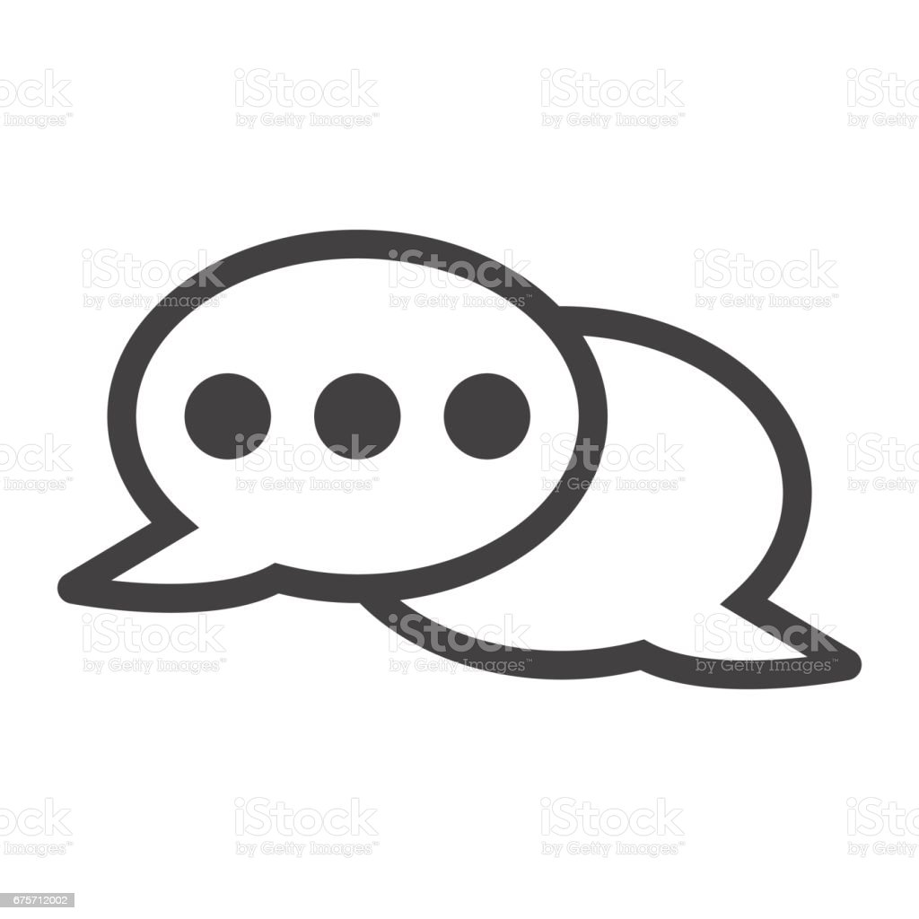 Speech bubble line icon, chat and website button, vector graphics, a linear pattern on a white background, eps 10. royalty-free speech bubble line icon chat and website button vector graphics a linear pattern on a white background eps 10 stock vector art & more images of azerbaijan