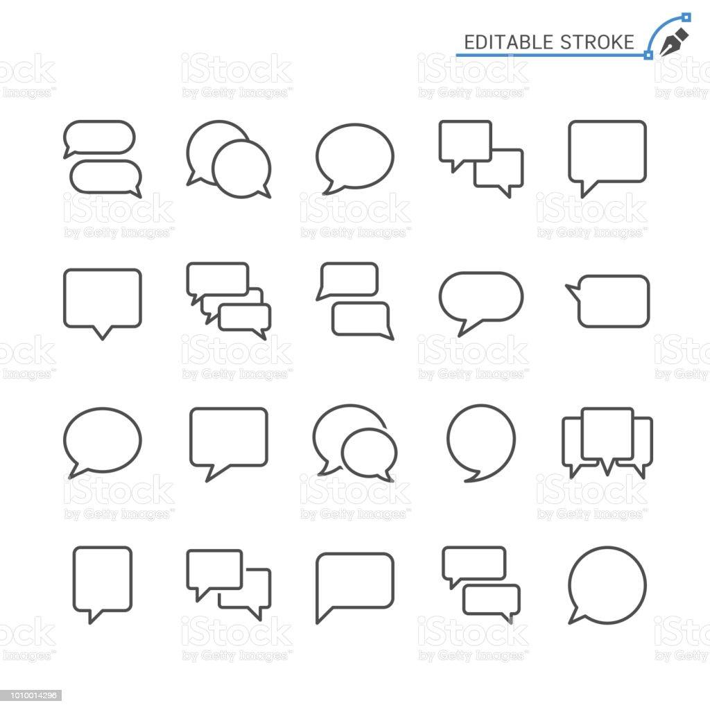 Speech bubble line icons. Editable stroke. Pixel perfect. - Grafika wektorowa royalty-free (Balon)