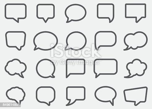 Speech Bubble Line Icons