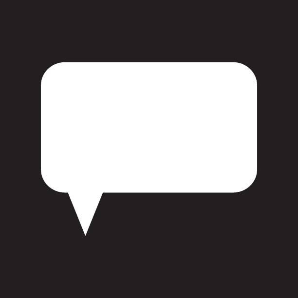 Speech bubble. Message box. Message icon. vector art illustration