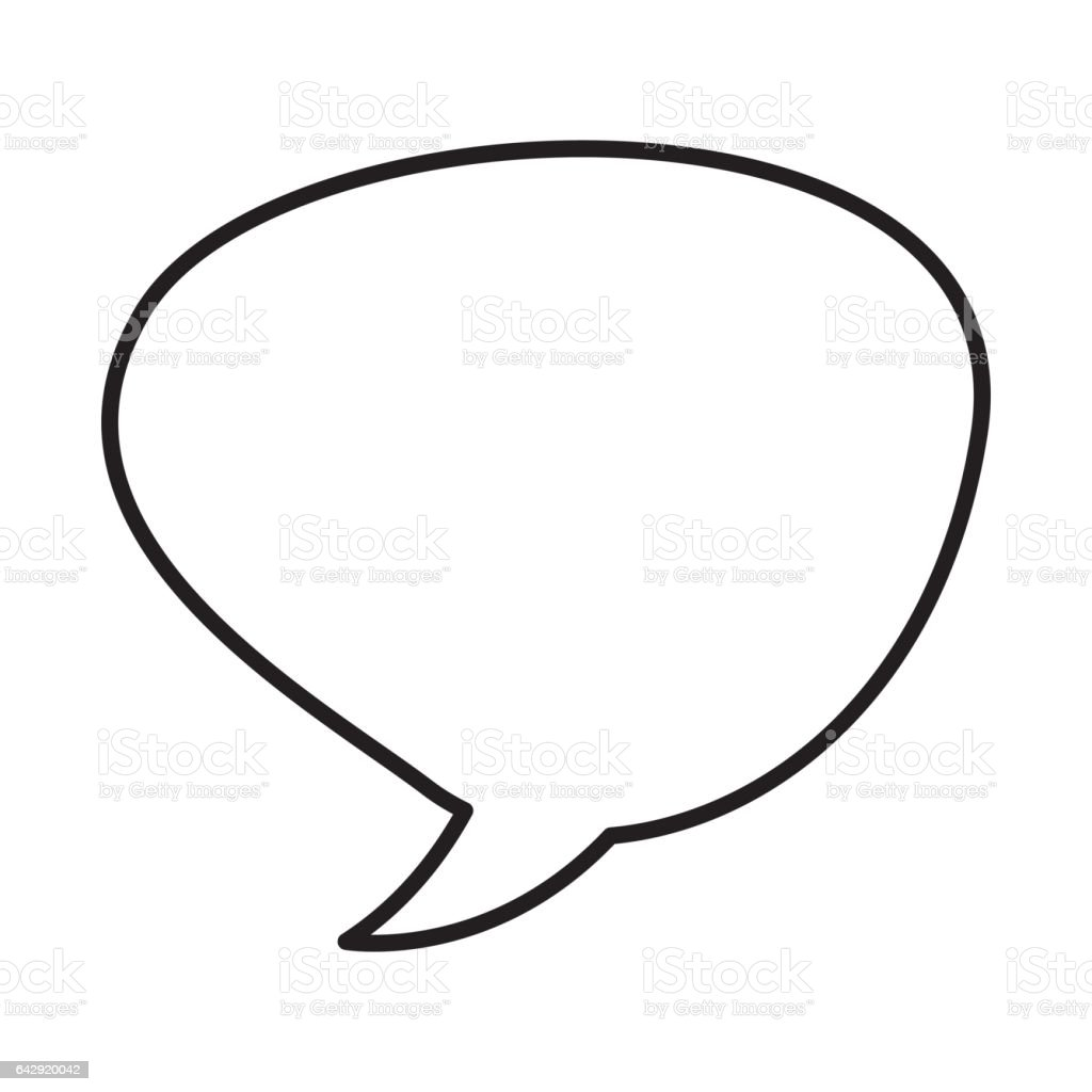speech bubble message icon stock vector art more images of art rh istockphoto com vector speech bubbles free download vector speech bubble illustrator free