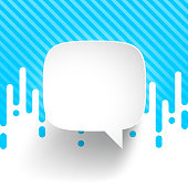 Speech Bubble isolated on irregular rounded lines halftone transition. Blue and white abstract background. Speech Bubble template for your design. With space for your text and your background. The layers are named to facilitate your customization. Vector Illustration (EPS10, well layered and grouped). Easy to edit, manipulate, resize or colorize. Please do not hesitate to contact me if you have any questions, or need to customise the illustration. http://www.istockphoto.com/portfolio/bgblue