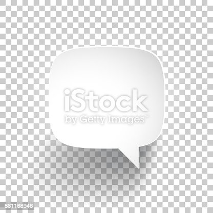 Speech Bubble isolated on an blank background, for your own design.