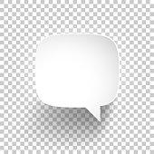Speech Bubble on blank background