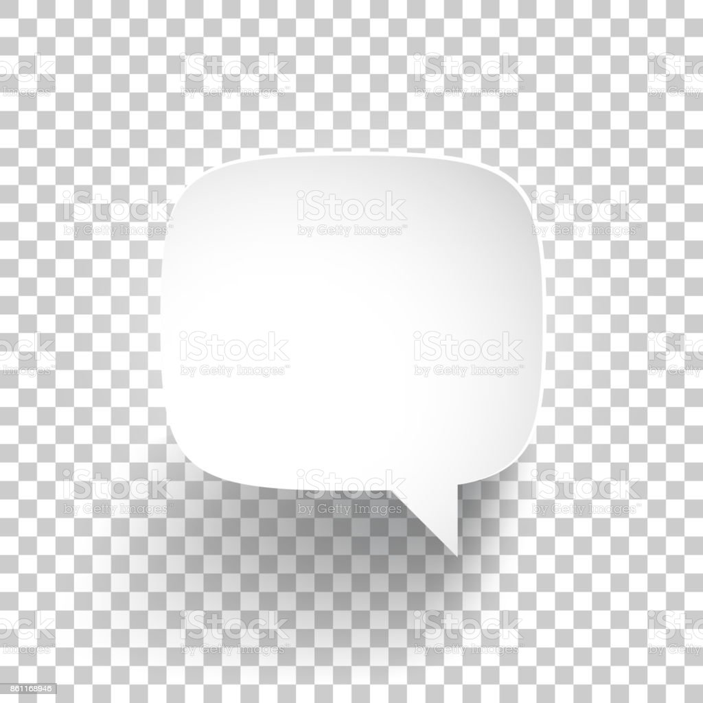 Speech Bubble on blank background vector art illustration