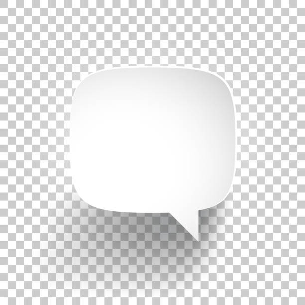 speech bubble on blank background - speech bubble stock illustrations, clip art, cartoons, & icons