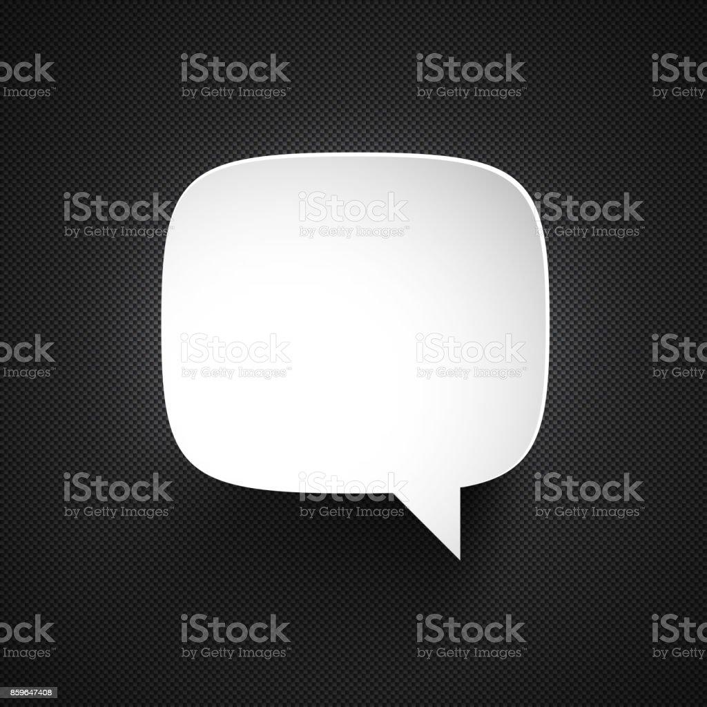 Speech Bubble on carbon fiber background vector art illustration