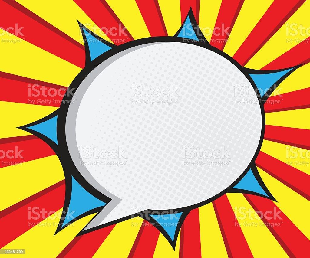 Speech bubble pop artcomic book background stock vector - Cuadros pop art comic ...
