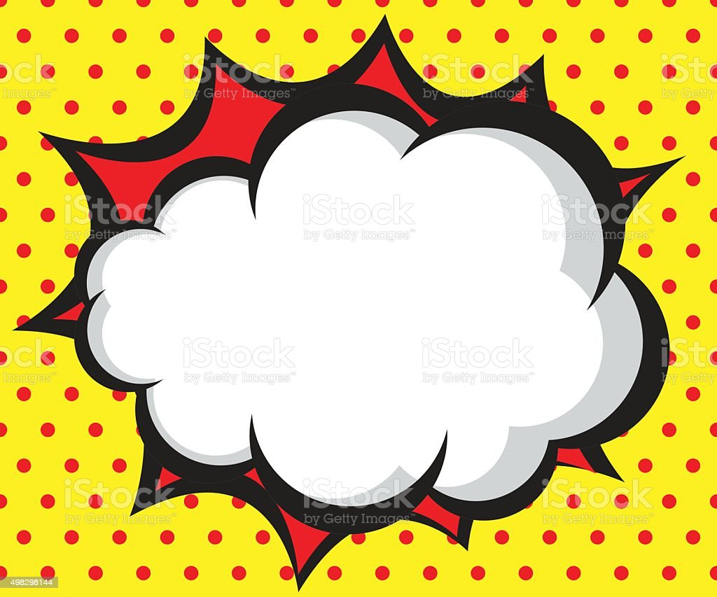 Speech Bubble Pop Artcomic Book Background Stock Vector