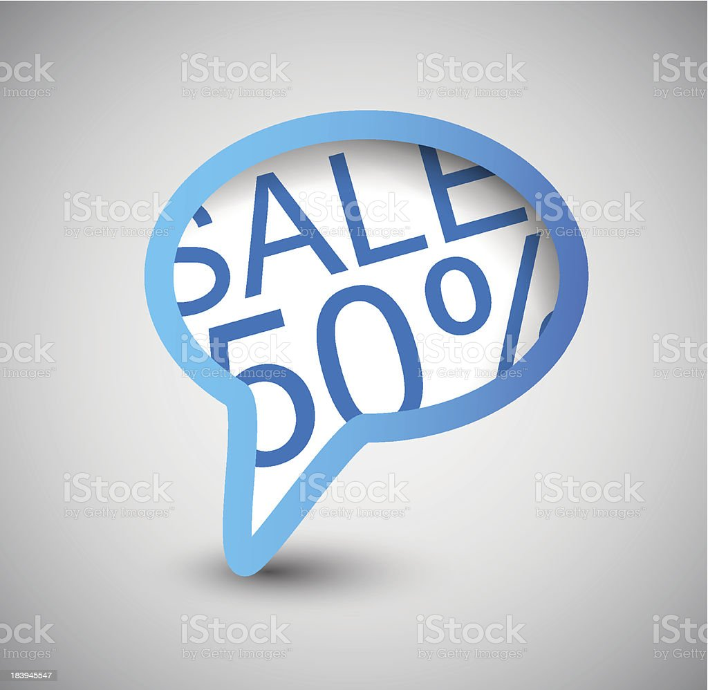 Speech Bubble. SALE 50% royalty-free speech bubble sale 50 stock vector art & more images of cheerful