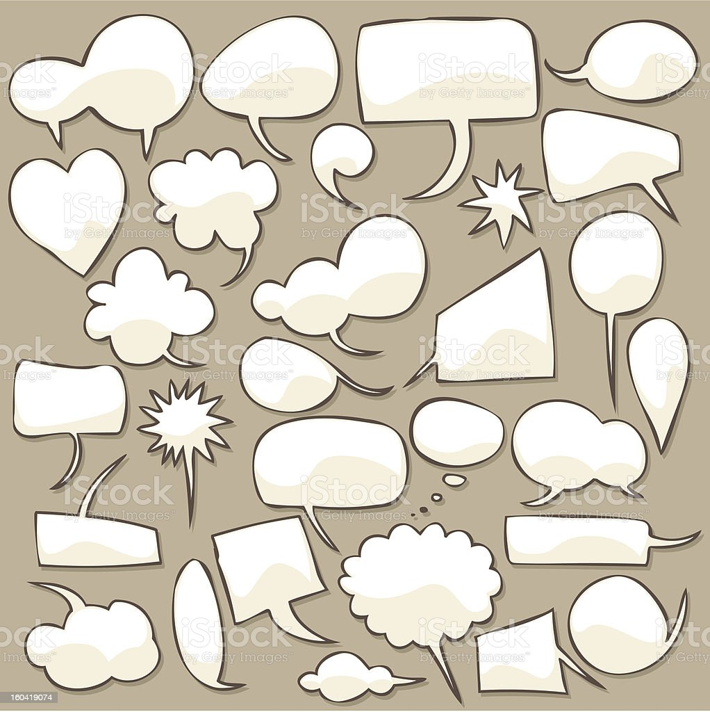 Speech bubble set royalty-free speech bubble set stock vector art & more images of abstract