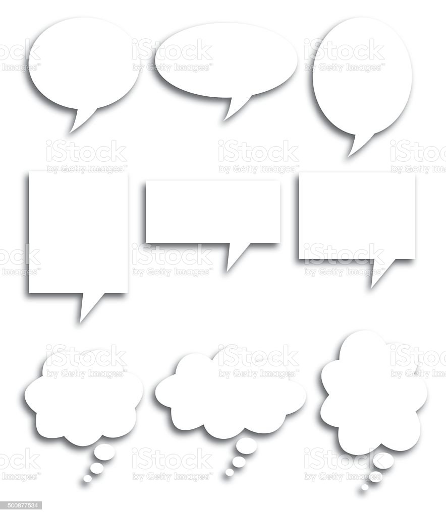 Speech Bubble Shadows vector art illustration