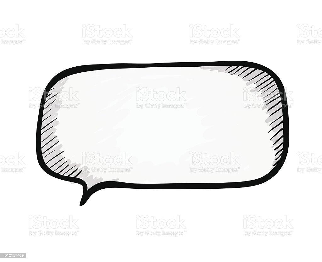Speech bubble. Sketch vector illustration. vector art illustration