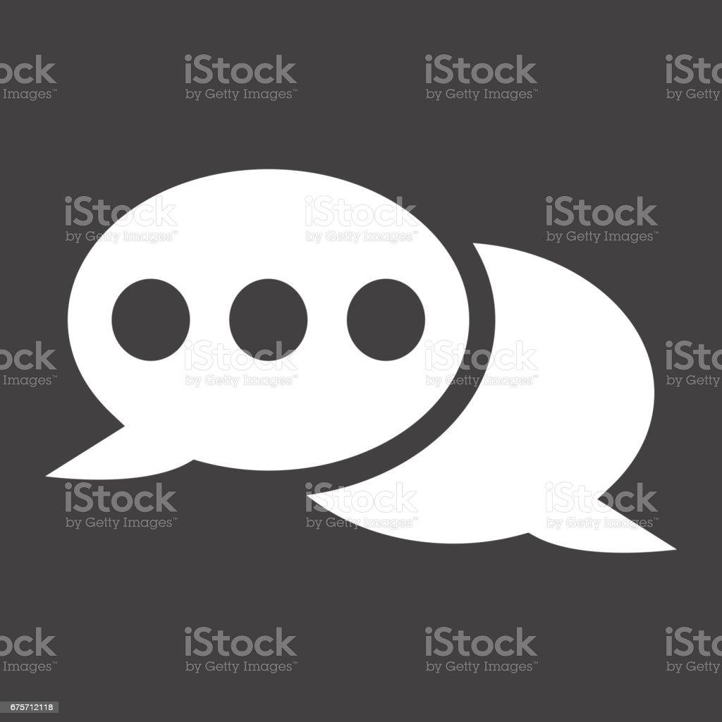 演講泡沫固體圖示、 聊天和網站按鈕,向量圖形,在黑色的背景,eps 10 的填充模式。 免版稅 演講泡沫固體圖示 聊天和網站按鈕向量圖形在黑色的背景eps 10 的填充模式 向量插圖及更多 互聯網 圖片