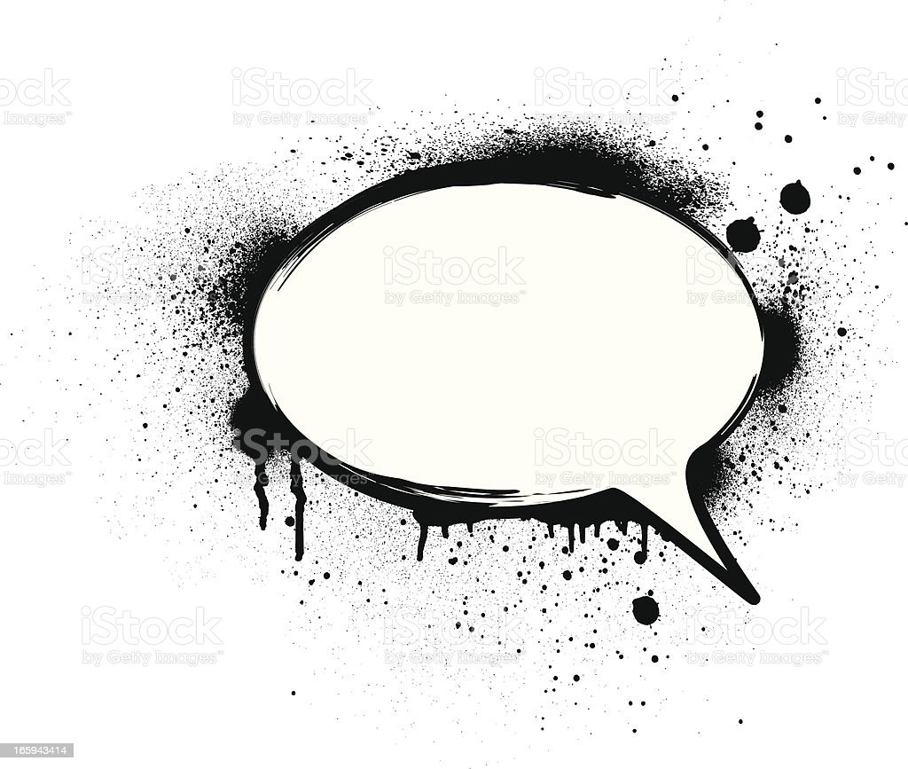 Speech Bubble Splatter Stock Illustration - Download Image