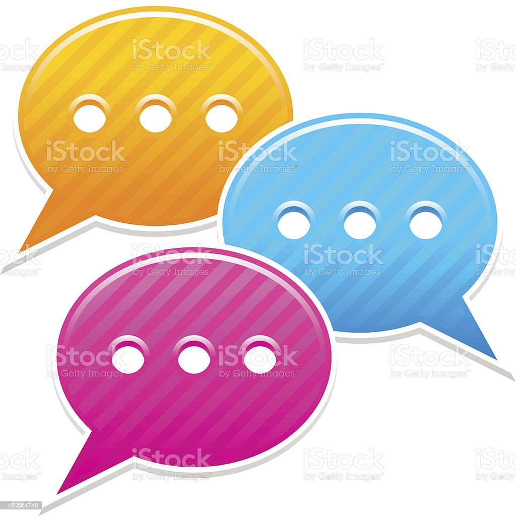 Speech bubble sticker icon chat room label web button royalty-free stock vector art