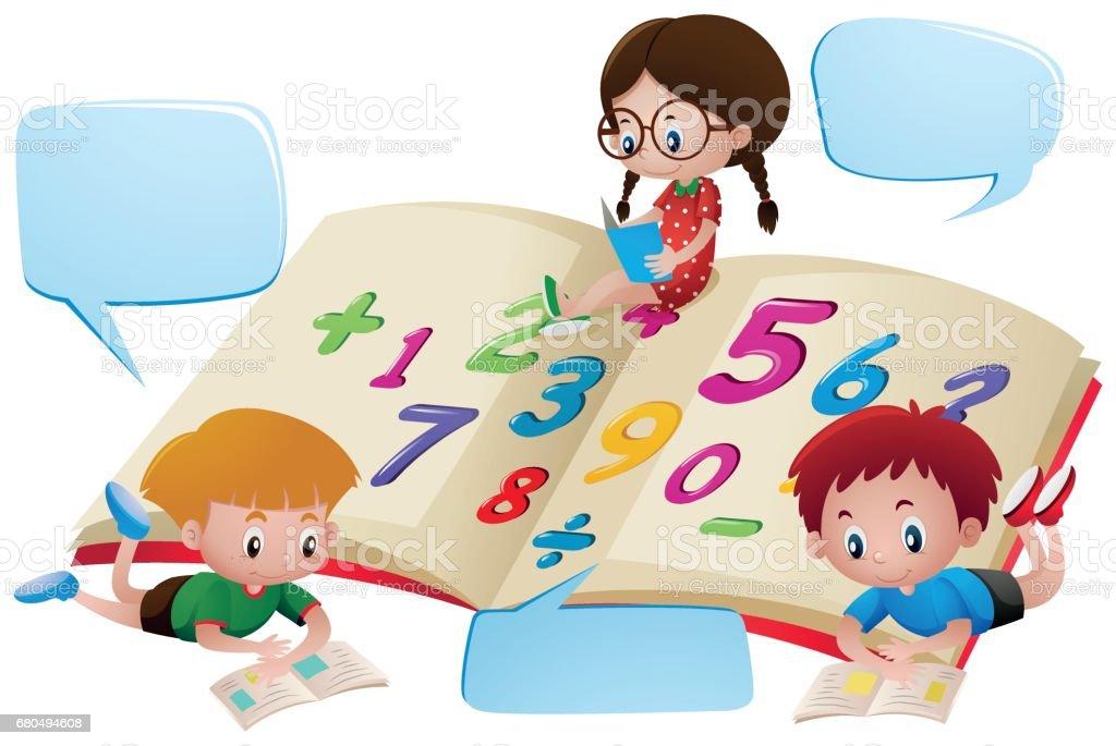 Ilustración de Plantilla De Burbuja Del Discurso Con Niños ...
