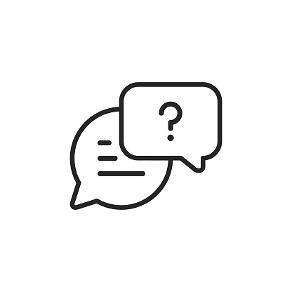 Speech Bubble, Text Messaging Line Vector Icon. Editable Stroke. Pixel Perfect. For Mobile and Web.
