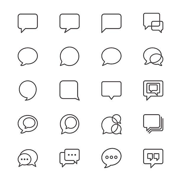 Sprechblase dünne Symbole – Vektorgrafik