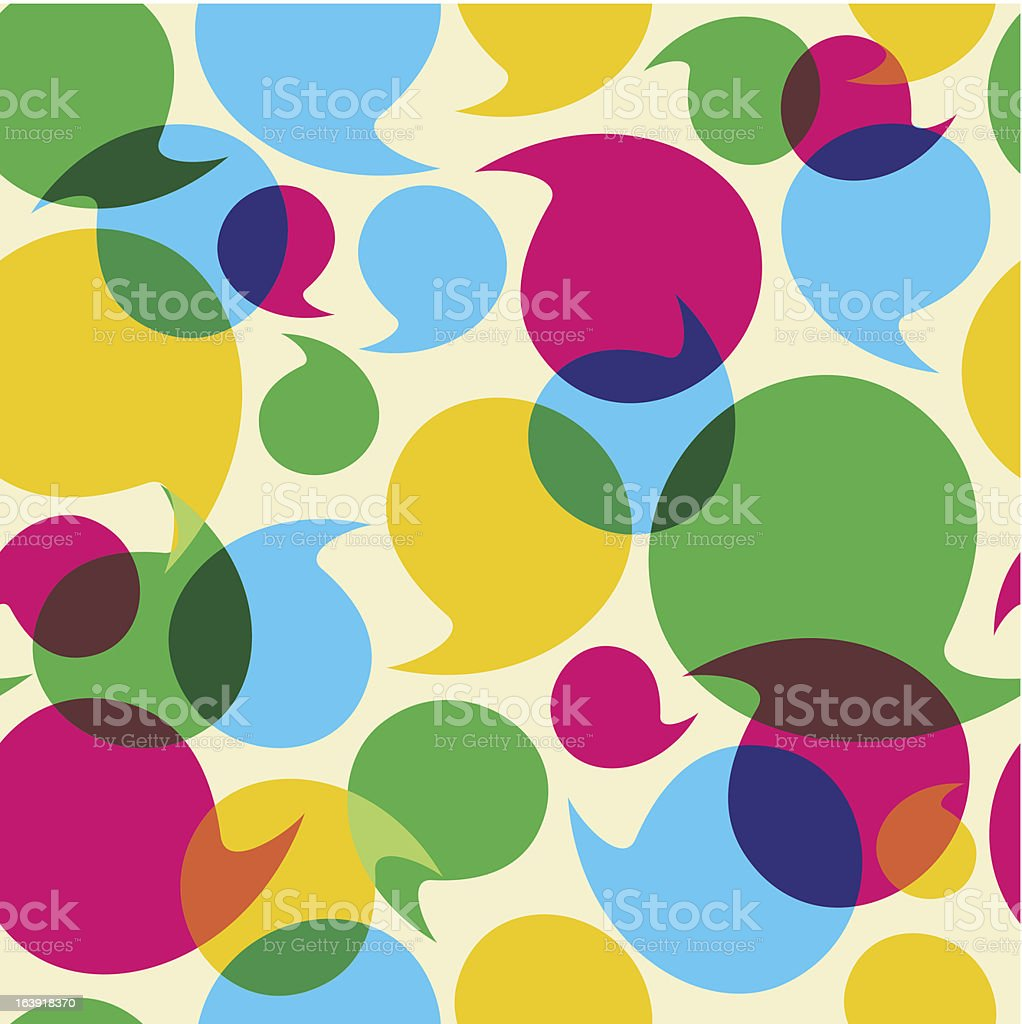Speech bubble transparency pattern royalty-free stock vector art