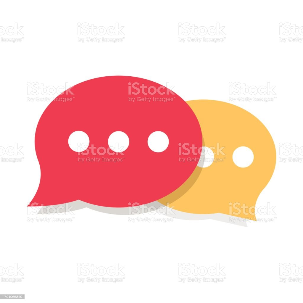 Speech Bubble Vector Icon vector art illustration